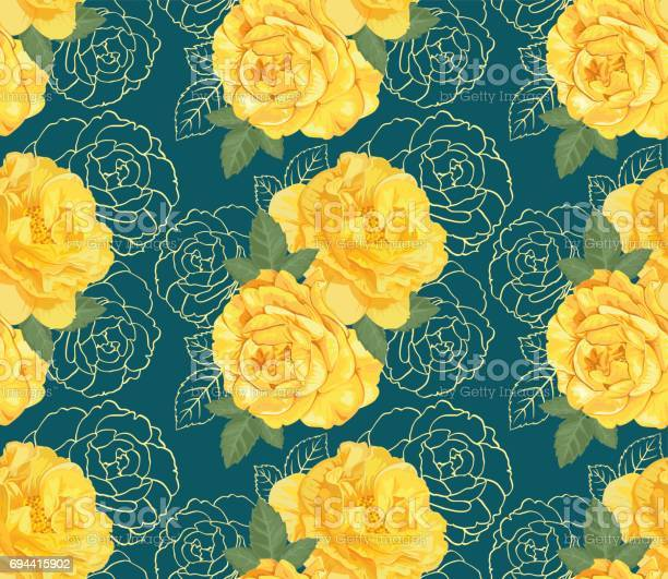 Decorative yellow color roses with hand drawing outline floral in vector id694415902?b=1&k=6&m=694415902&s=612x612&h=kenzlbwyir hpba8zt57mjer7j85pqimblgg3wqfp5a=