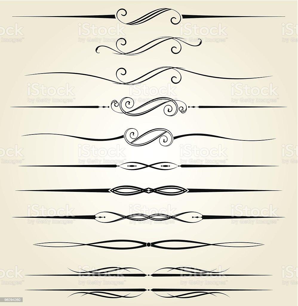 decorative_dividers vector art illustration