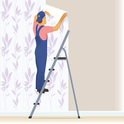 Decorator wallpapering