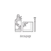 Decoupage line icon