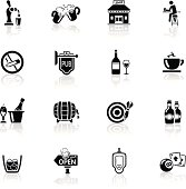 High quality icon set - bar and pub icons.