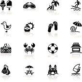 Deep Black Series   beach icons