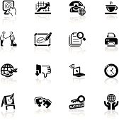 Deep Black Series | business and office icons