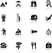 Deep Black Series | camping icons