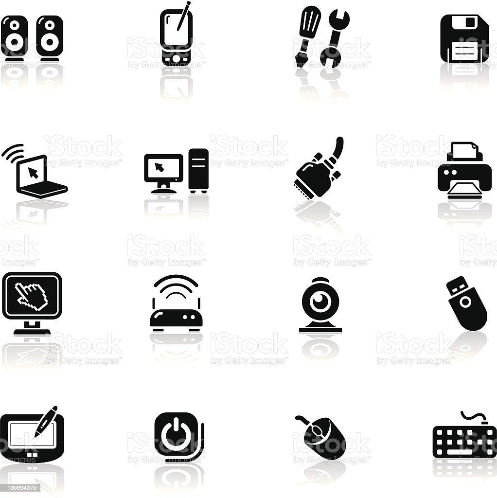 Deep Black Series   computer icons royalty-free stock vector art