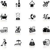 High quality icon set - hotel icons.