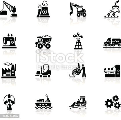 High quality icon set - industry icons.