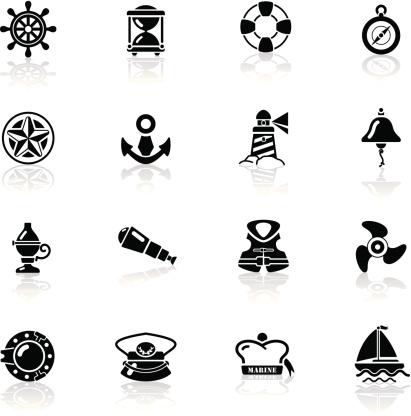 Deep Black Series | nautical icons