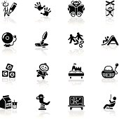 Deep Black Series   preschool icons