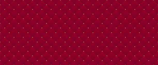 깊은 부르고뉴 완벽 한 패턴입니다. 프리미엄 로얄 파티에 사용할 수 있습니다. - 왕족 stock illustrations