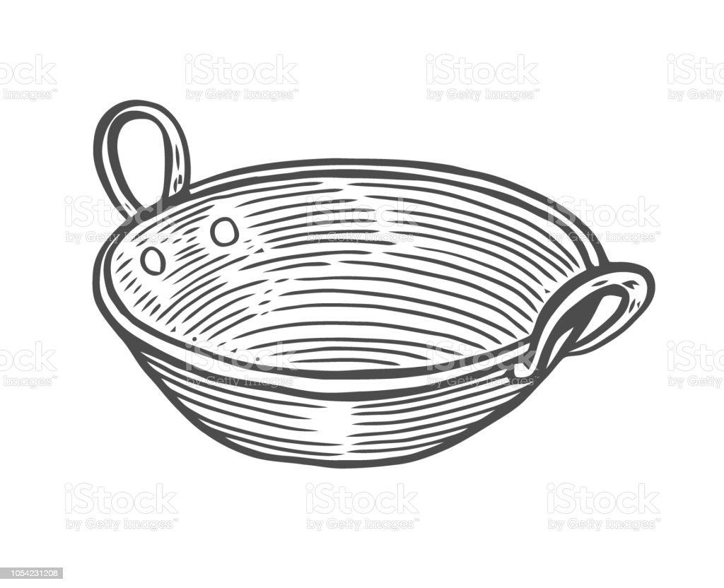 Deep copper plate vector art illustration