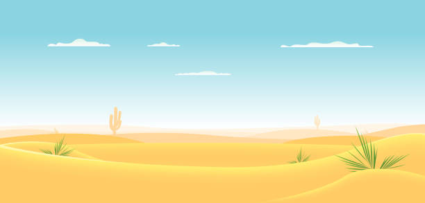 Deep Desert vector art illustration
