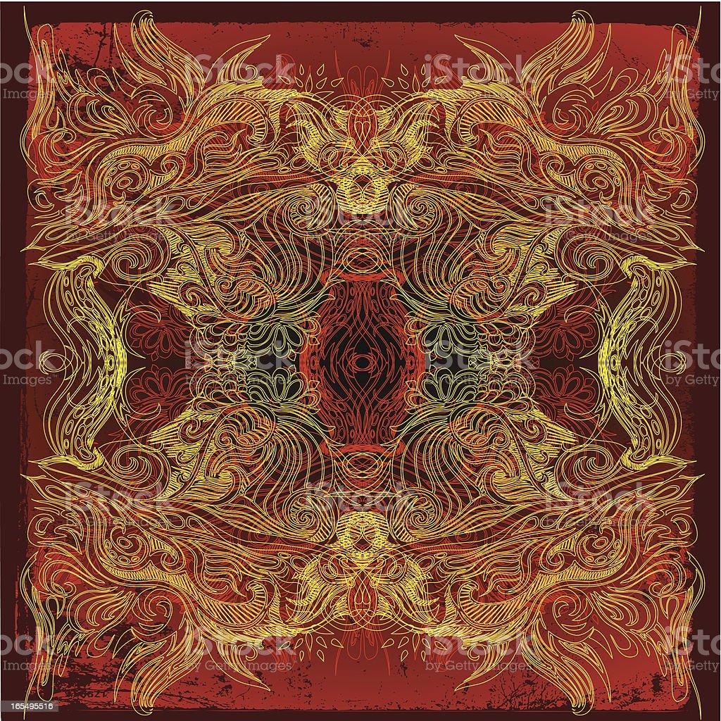 deep meditation vector art illustration