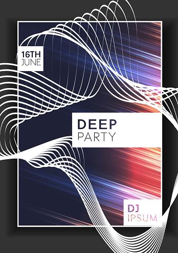 Deep party poster minimal design
