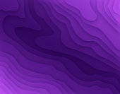 Purple topographic 3D layers background abstract.