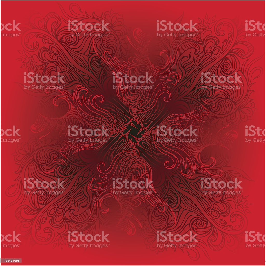 deep red royalty-free stock vector art
