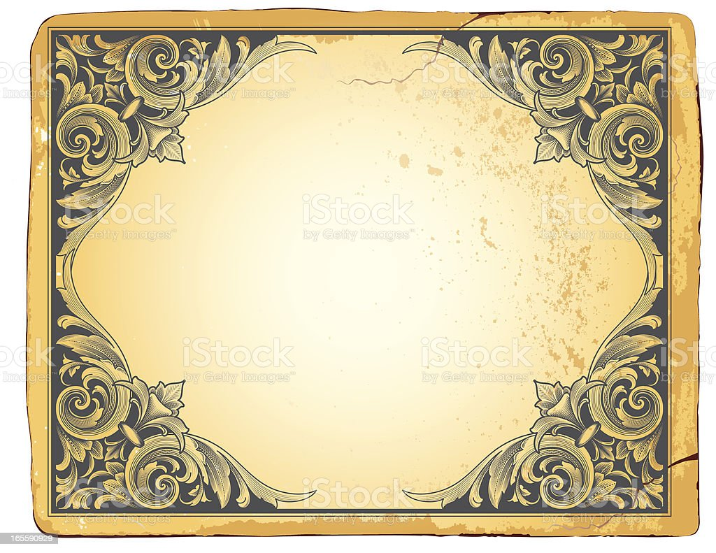 Deep Relief Corners royalty-free stock vector art