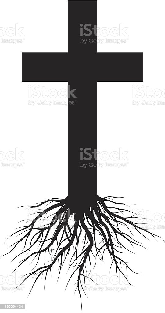 best cross with roots illustrations  royalty-free vector graphics  u0026 clip art