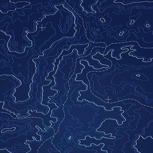 ilustrações de stock, clip art, desenhos animados e ícones de profundo mar azul mapa topographic ilustração vetorial. - comportamento animal
