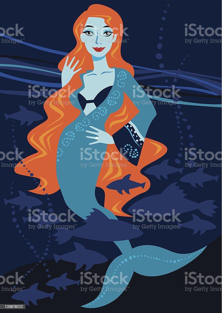 Deep sea mermaid royalty-free deep sea mermaid stock vector art & more images of adult