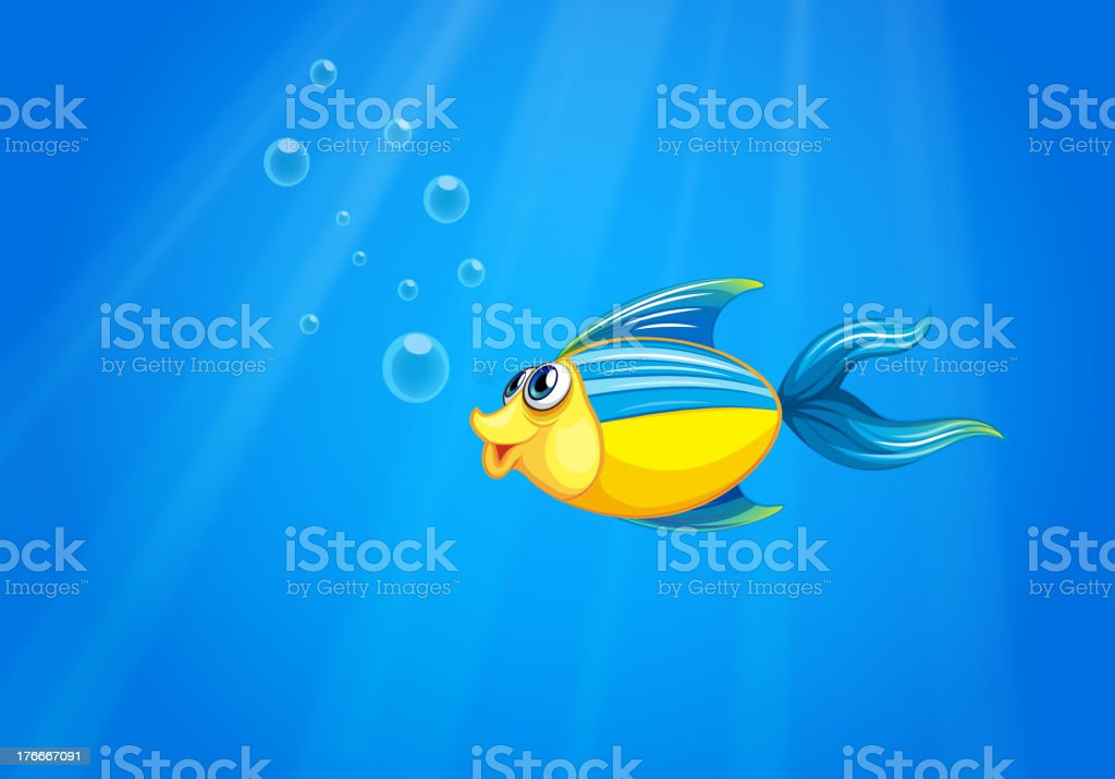 deep sea with a fish royalty-free deep sea with a fish stock vector art & more images of illustration