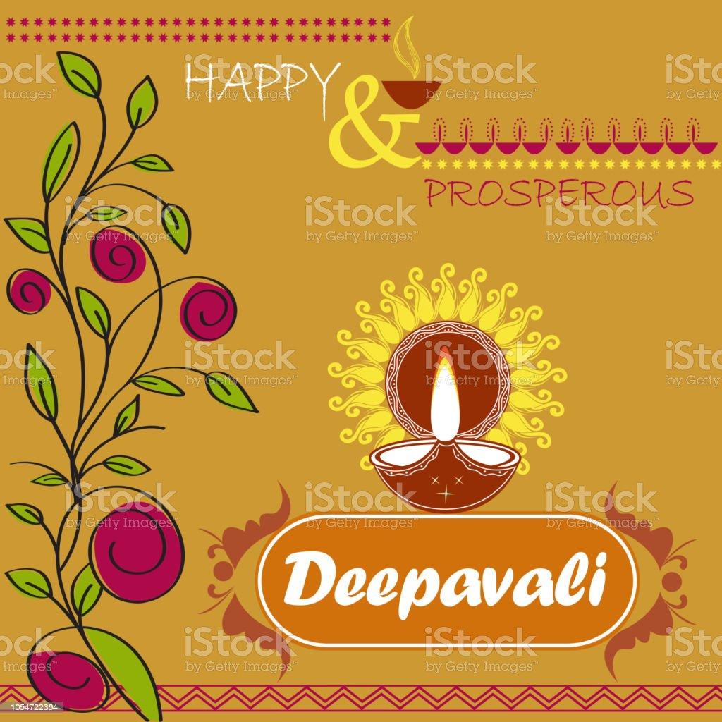 Deepavali Greetings Stock Vector Art More Images Of Diwali