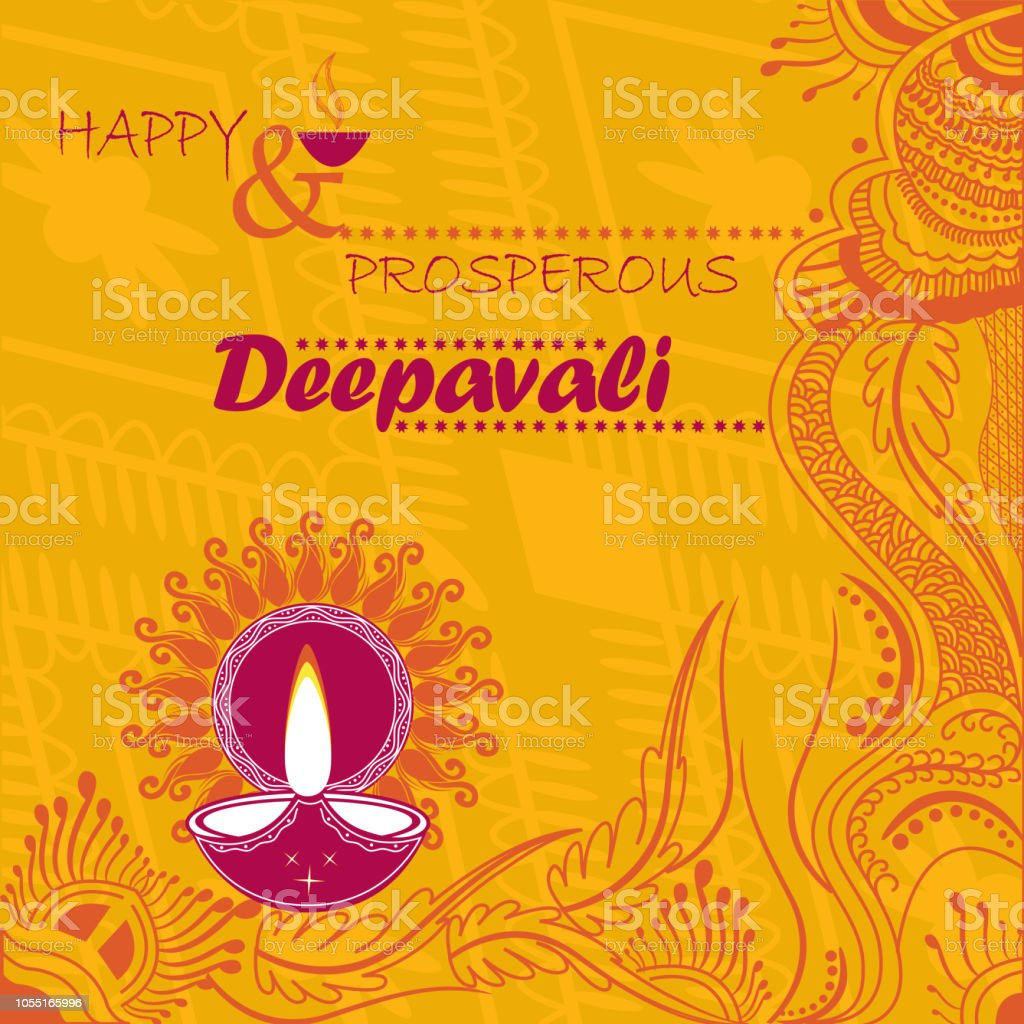 Deepavali Traditional Greetings Stock Vector Art More Images Of