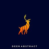 Deer Abstract Illustration Vector Template. Suitable for Creative Industry, Multimedia, entertainment, Educations, Shop, and any related business.