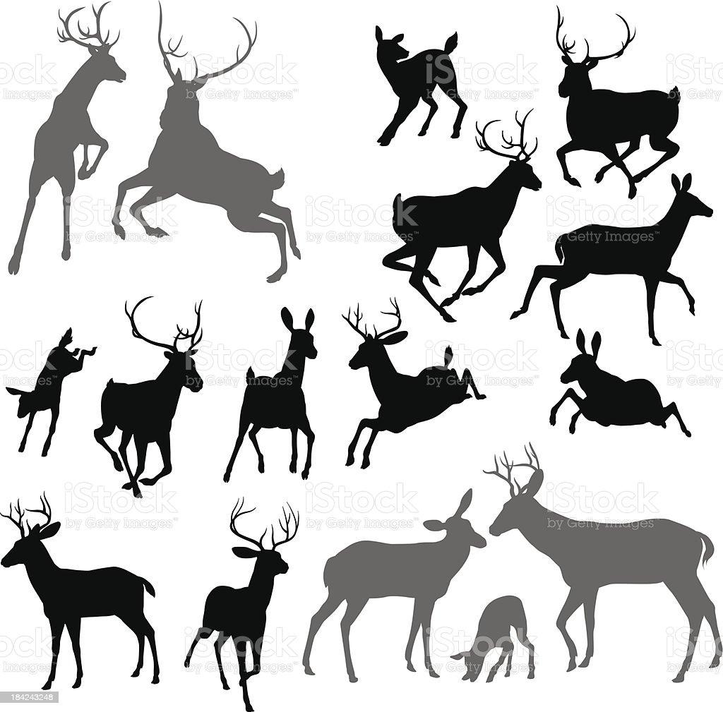 deer 動物シルエット のイラスト素材 184243248 | istock
