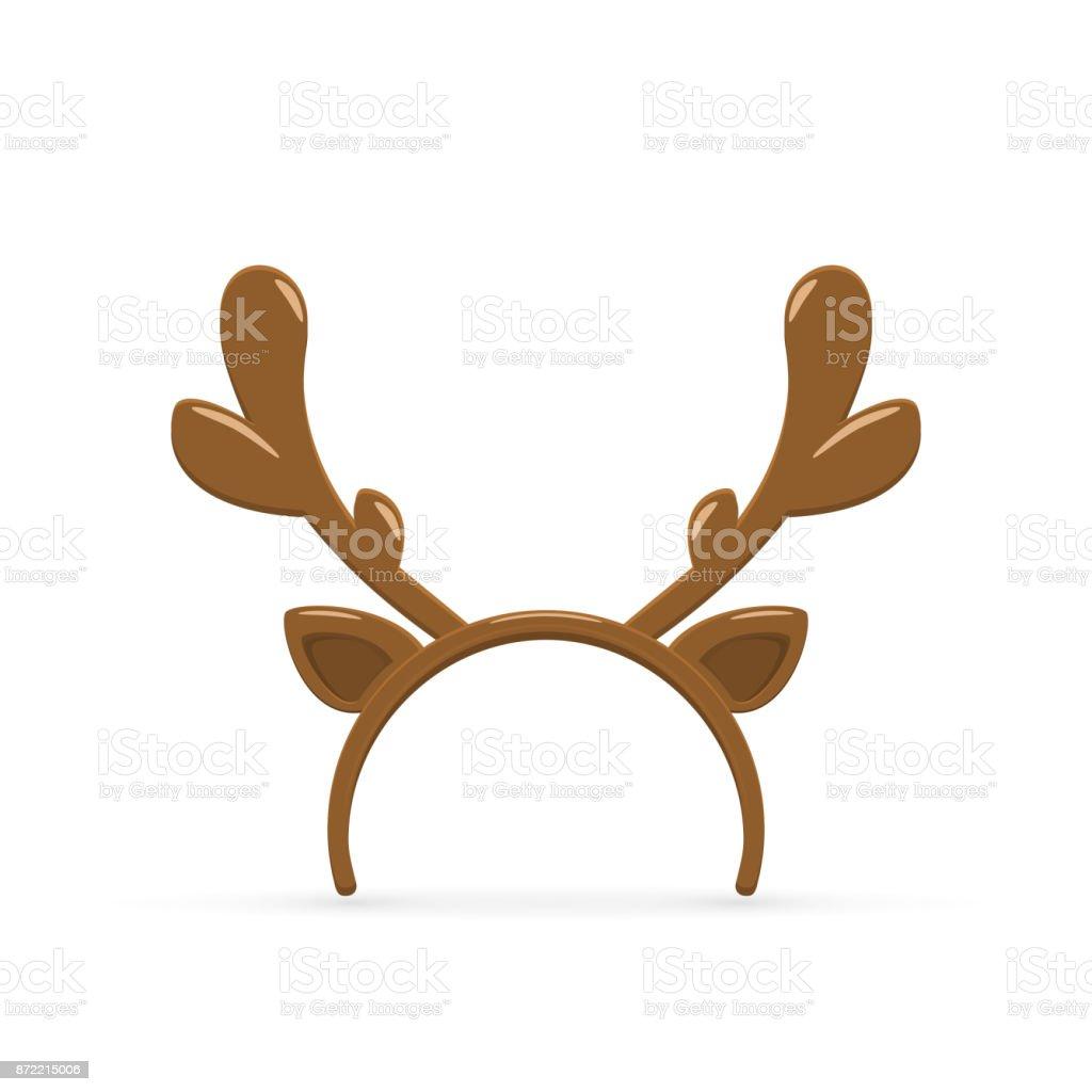 Deer Antler On White Background Stock Vector Art & More Images of ...