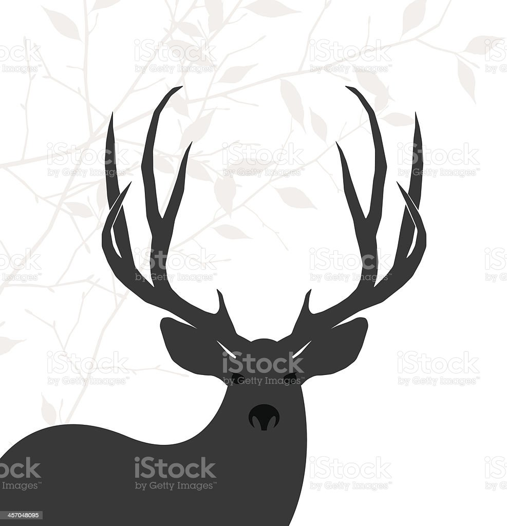 deer background vector art illustration
