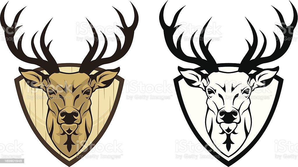 Deer emblem royalty-free stock vector art