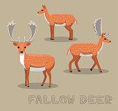 Deer Fallow Cartoon Vector Illustration