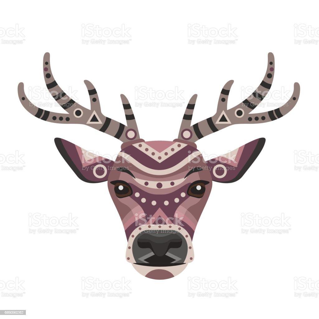Deer Head Icon Vector Decorative Emblem Royalty Free