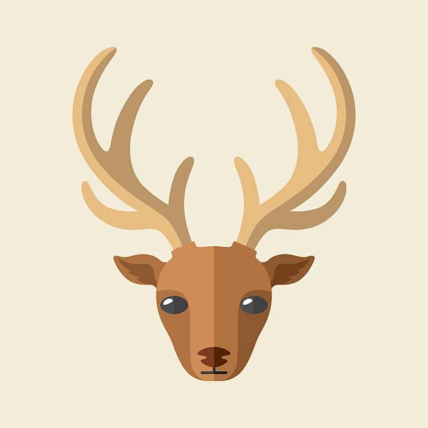 illustrations, cliparts, dessins animés et icônes de tête de cerf - renne