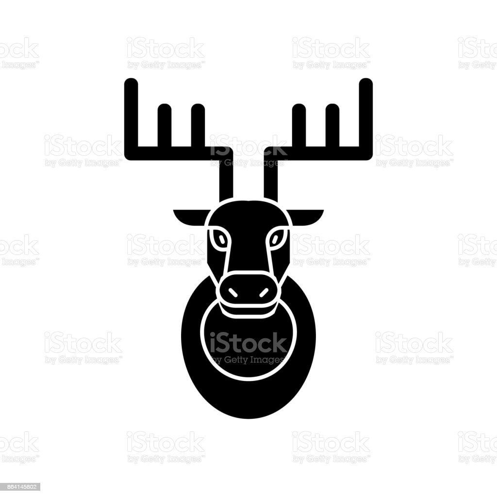 deer head  icon, vector illustration, sign on isolated background royalty-free deer head icon vector illustration sign on isolated background stock vector art & more images of animal