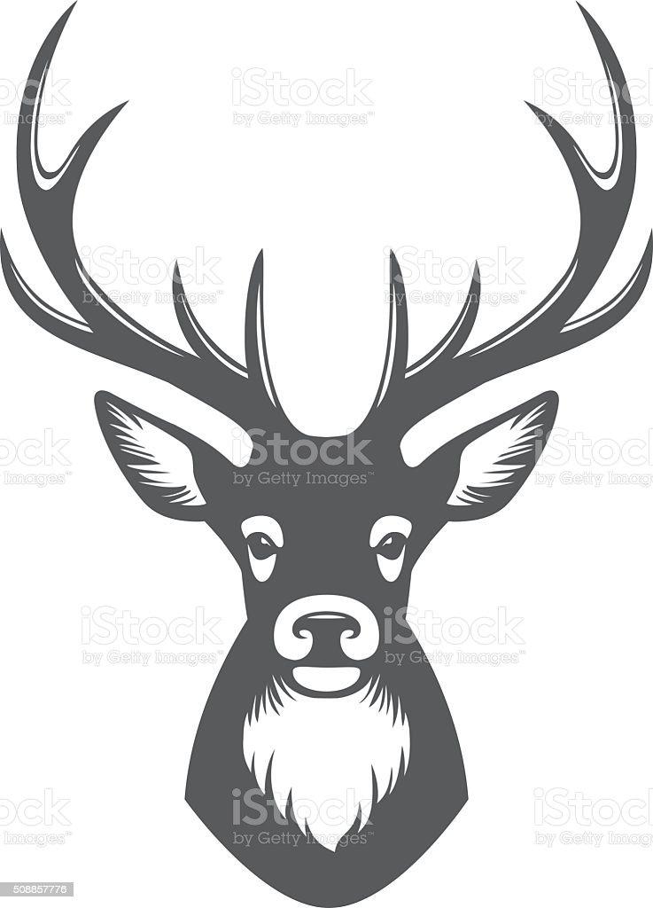 Deer head illustration vector art illustration