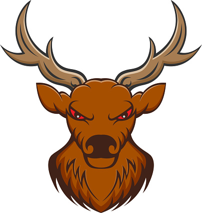 deer head mascot  isolated on white background