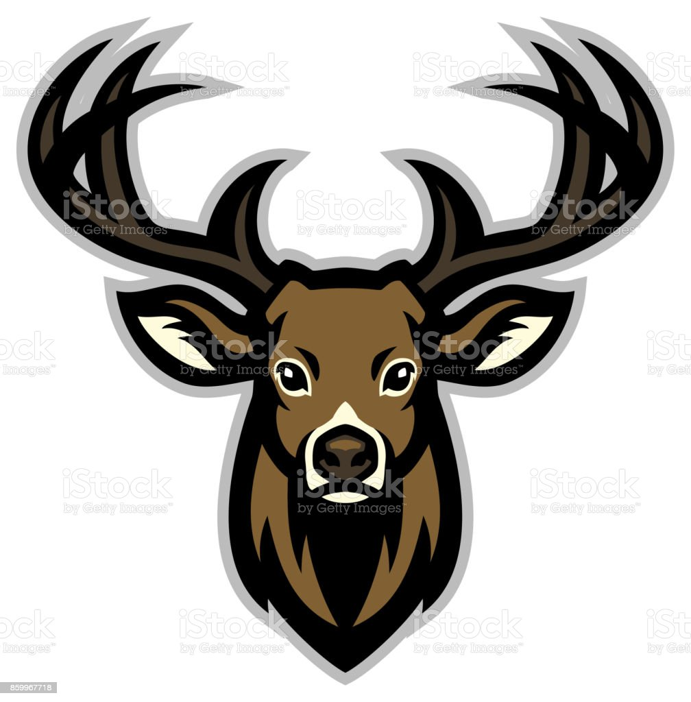 Deer head mascot vector art illustration