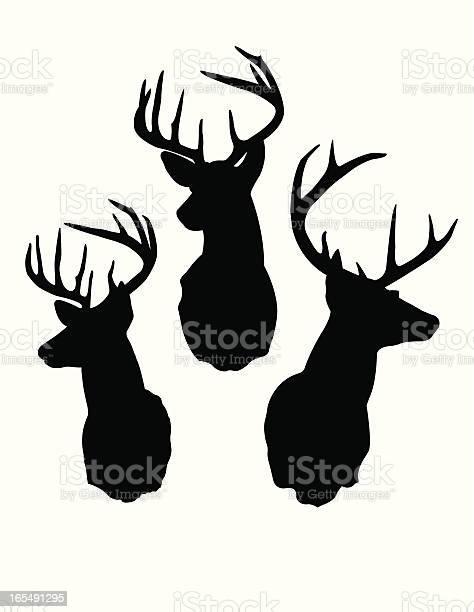 Deer head silhouettes vector id165491295?b=1&k=6&m=165491295&s=612x612&h=pk7wvp0ag9dc8eyg05pdx3mrwebb5bmoxe8b31daljo=