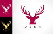 Deer head vector. Animal design.
