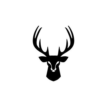 deer head vector design inspirations