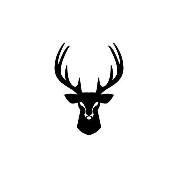 deer head vector design inspirations deer head vector design inspirations stag stock illustrations