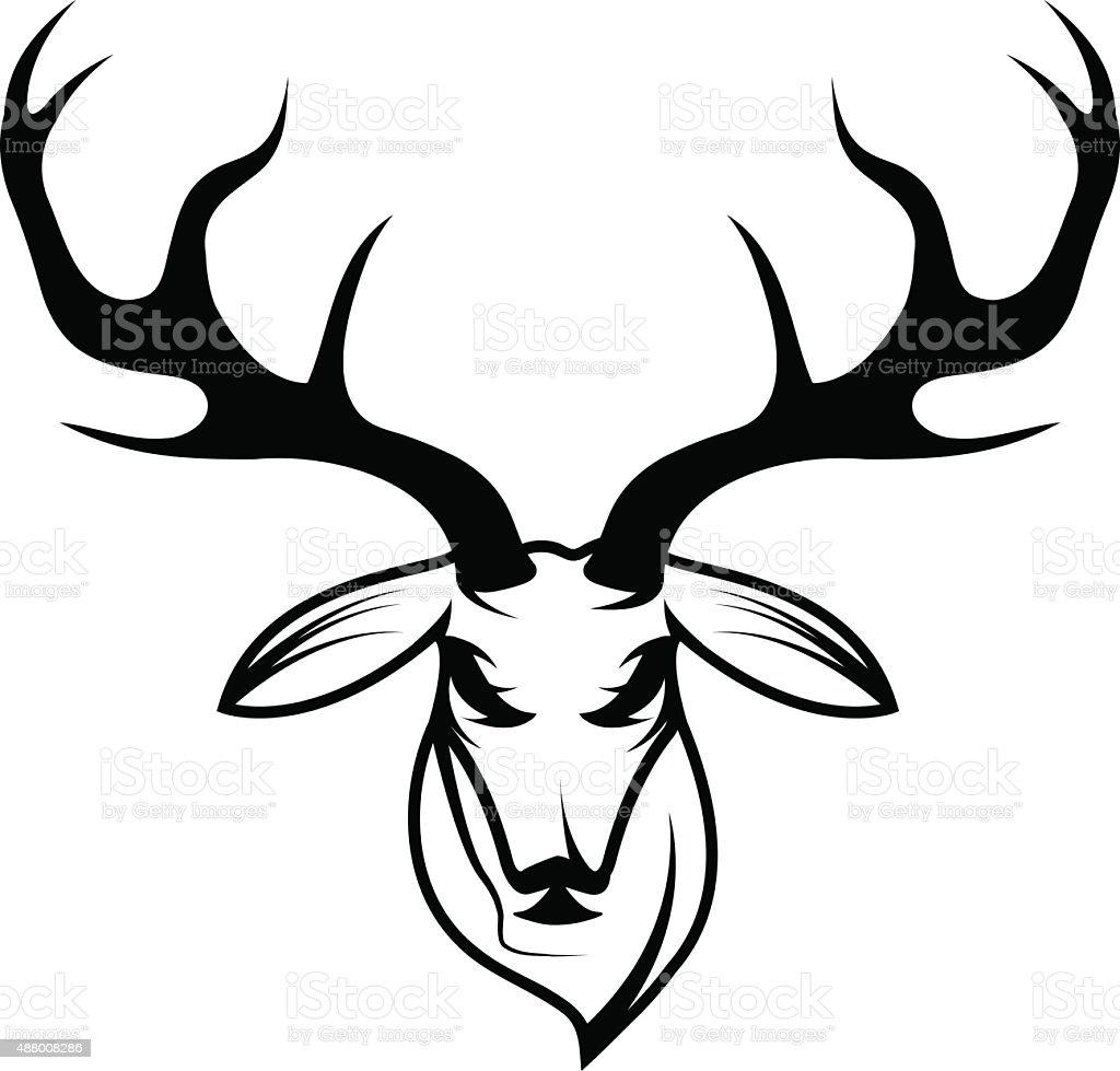 Deer Head Vector Design Template Stock Vector Art & More Images of ...