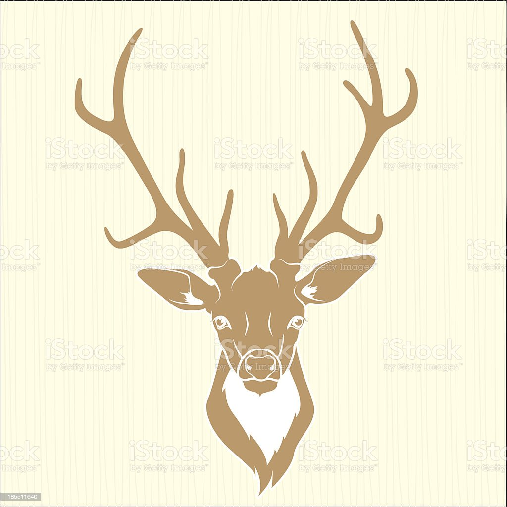 Deer head royalty-free stock vector art