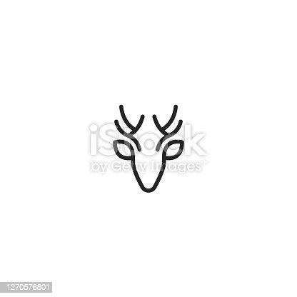 istock Deer Head Vector Logo Icon 1270576801