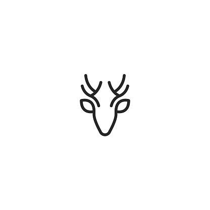Vector illustration of deer head