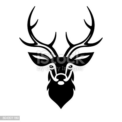 Deer Head. Vector