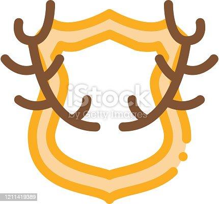 istock Deer Horns Icon Vector Outline Illustration 1211419389