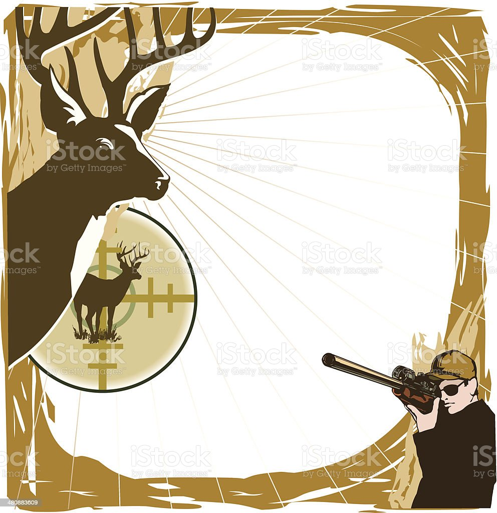 Deer Hunting Frame Stock Vector Art & More Images of Adult 480883609 ...